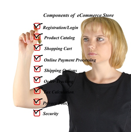 Components of eStore Stock Photo - 18415608