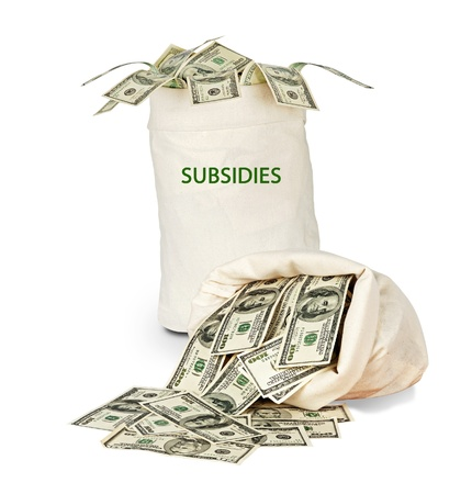 Bag with subsidies Stock Photo - 18549383