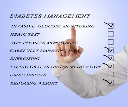 checklist for diabetes managment photo