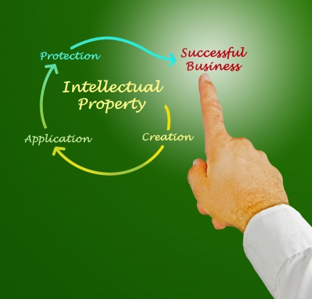 Intellectual property diagram Stock Photo - 19604938