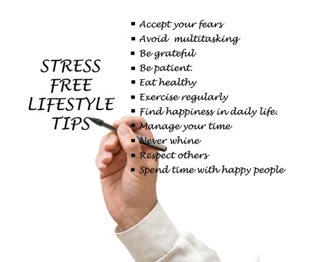 whining: Stress free lifestyle tips Stock Photo