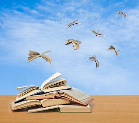 libros volando: Los libros de vuelo