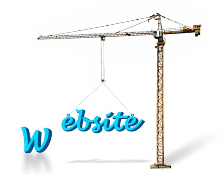building a website: Building a website Stock Photo