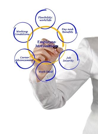 Diagram of employee motivation photo