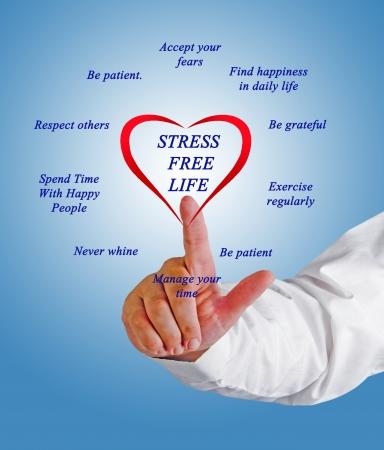Estrés consejos de estilo de vida gratis Foto de archivo - 20917020