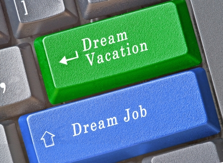 Keys to dream vacation and to dream job photo