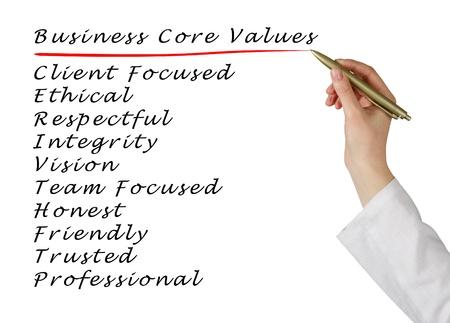 clients: Business core values Stock Photo