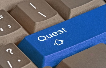 Hot key for quest Stock Photo