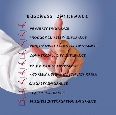 liability insurance: Business insurance Stock Photo