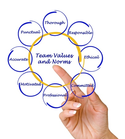 team values and norms photo