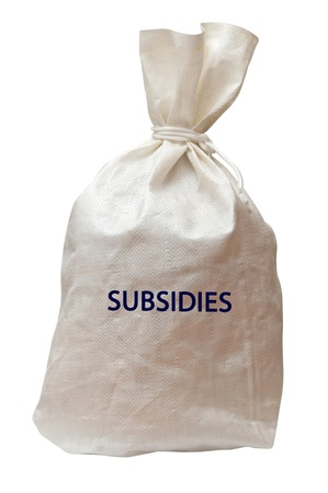subsidy: Bag with subsidies