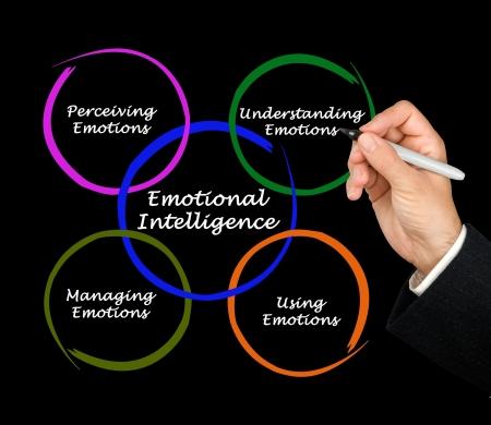 inteligencia emocional: Diagrama de la inteligencia emocional Foto de archivo
