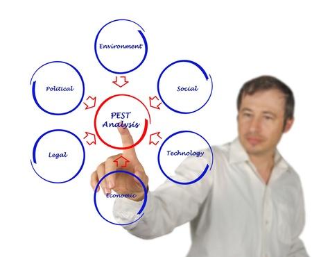political economist: Diagram of PEST analysis