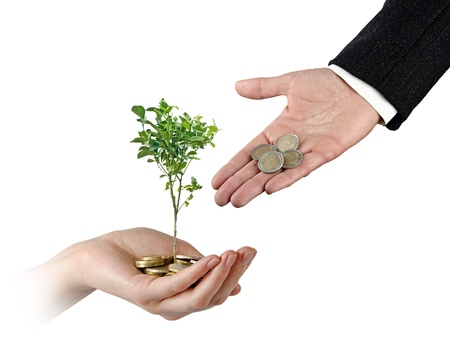 subsidy: Investment to agriculture Stock Photo
