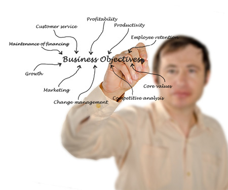 Business objective Stock Photo - 24067684