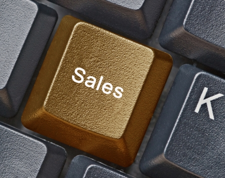 Keyboard with key for sale Stock Photo - 23783503