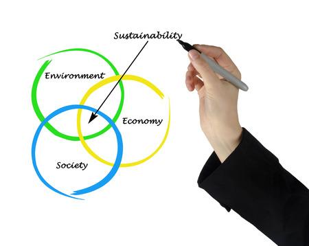 politican: Presentation of diagram of sustainability