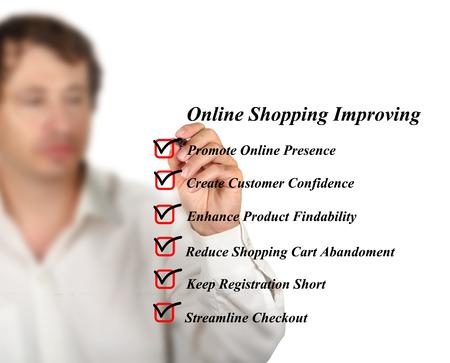 Online shopping improving Stock Photo