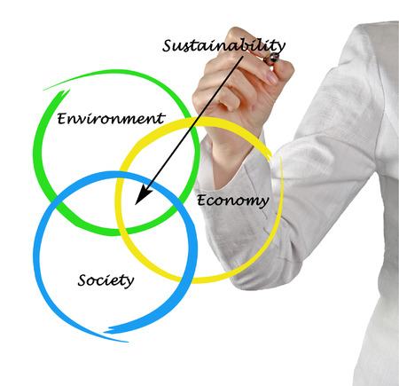 sociologist: Presentation of diagram of sustainability