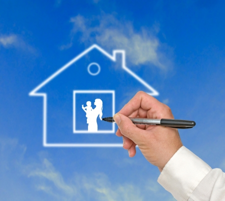 Gift of house Stock Photo - 24998003