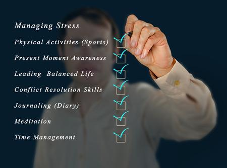 Managing stress photo