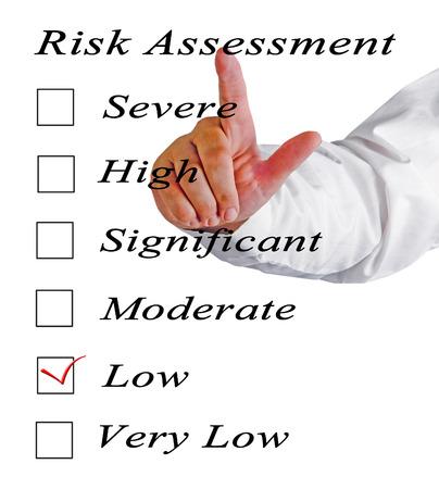 reduce risk: Evaluation of risk level