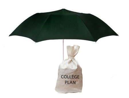 Bag with college plan photo