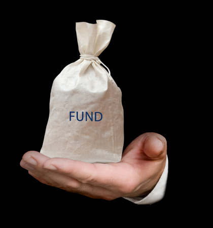 mutual fund: Bag with fund Stock Photo