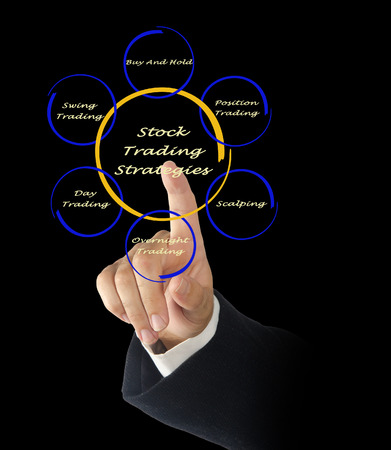 stockholder: Stock trading strategies Stock Photo