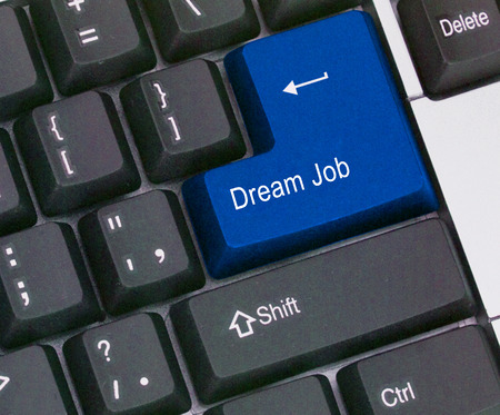 Keyboard with hot key for dream job photo