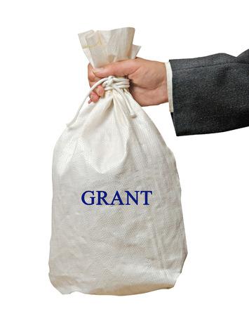 grant: Giving grant Stock Photo