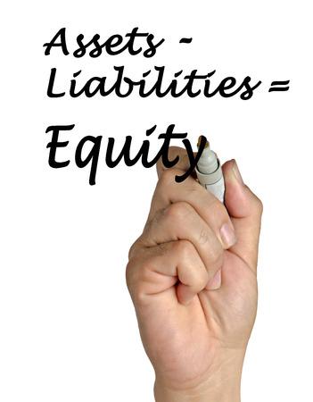 equidad: Ecuaci�n Equidad Foto de archivo