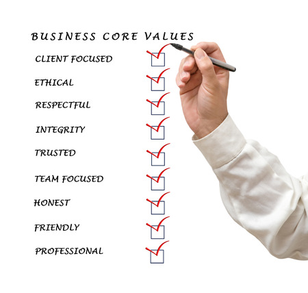 Business core values Stock Photo - 27414194