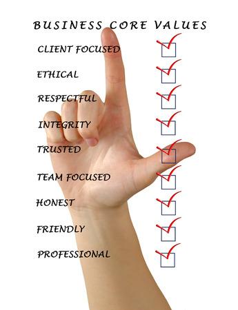 Business core values Stock Photo - 27414197
