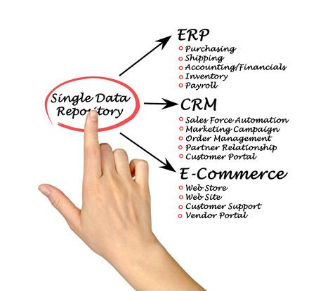 Diagram of Single Data Repository  photo