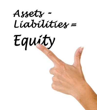 Equity equation Stock Photo
