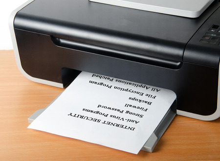 Printing internet security photo