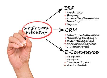 web portal: Single Data Repository Stock Photo