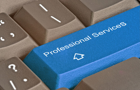 up service: Keyboard with key for  professional services Stock Photo