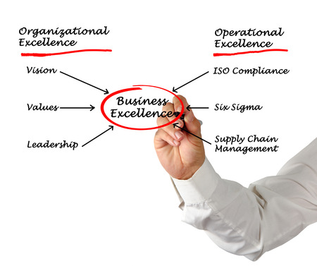 Diagram of business excellence photo
