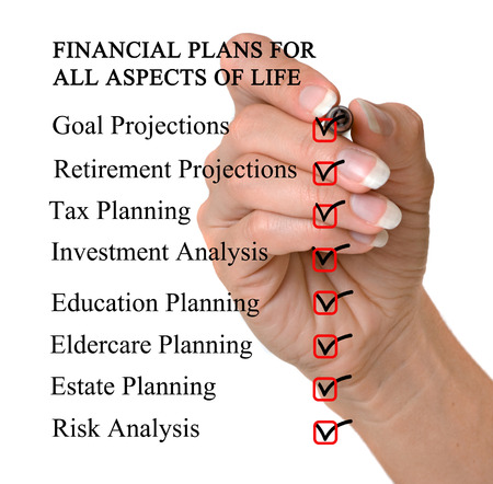 Checklist for financial plans photo