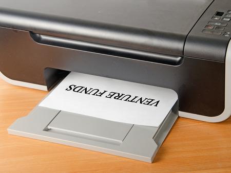 scaner: Printing document Stock Photo