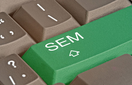 Keyboard with key for SEM photo