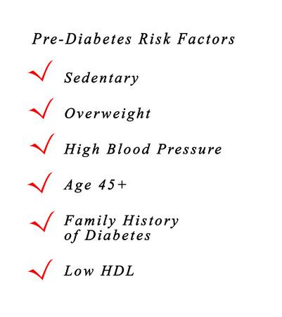 ilness: Pre-diabetes risk factors