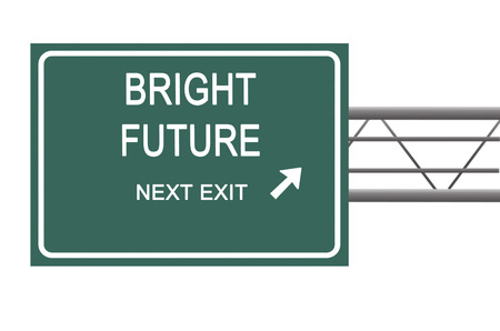 bright future: Road sign to bright future