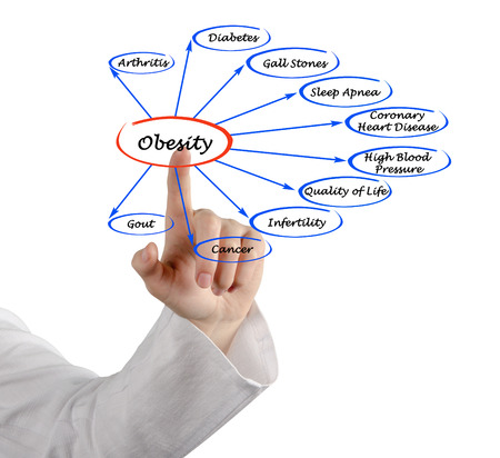 Diagram of Obesity  photo