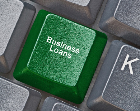 loans: Hot key for business loans Stock Photo