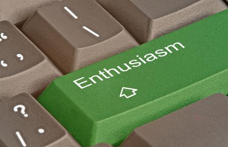 Keyboard with key for enthusiasm