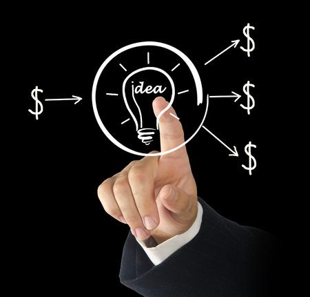 capitalist: Investment to idea Stock Photo