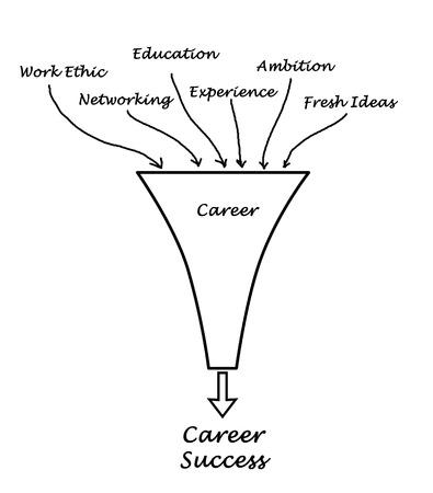 fresh graduate: Diagram of career success